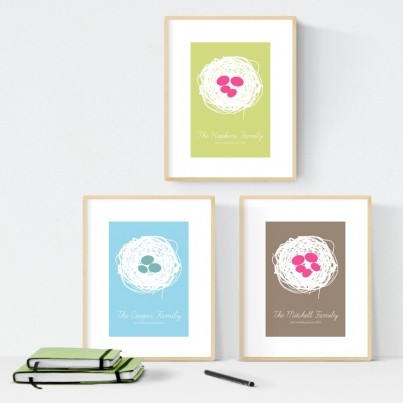 Personalised Family Print: Nest