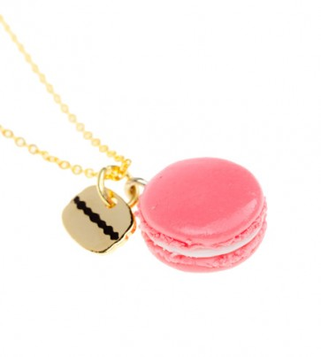 Macaroon Coffee Bean Necklace