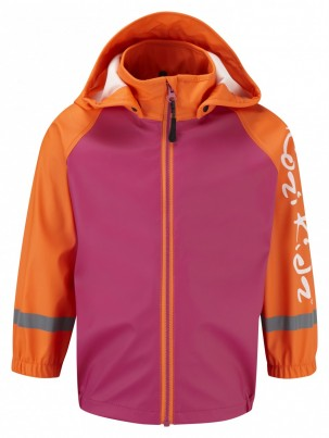 Koster Rain Jacket Unlined Pink/Orange