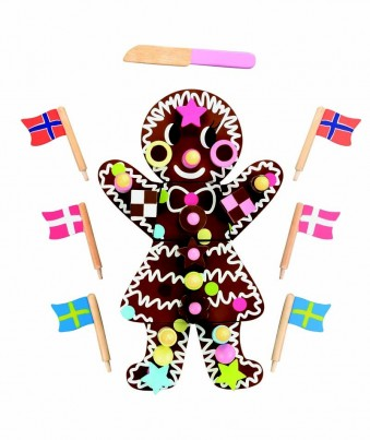 Extra Special Wooden Toy Chocolate Birthday Cake / Gingerbread Girl