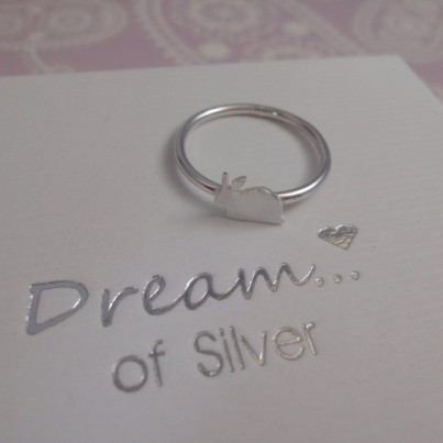 Childrens Silver Rabbit Ring