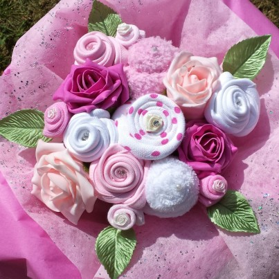 Pink Sensation Baby Bouquet - As seen in Mummy and Me Magazine! 0-6 months