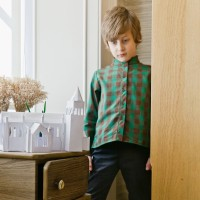 BOYS HUGO SHIRT IN GREEN