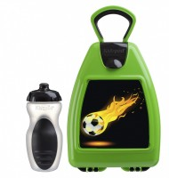 Green lunchbox with football
