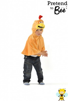 Quick and Easy Dressing Up  Straight from the Chicken Run...  Velour cape and character hood with velcro fastening.