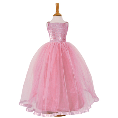 Pink Sequin Ballgown Dolls Costume