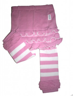 Skirtle - Pink & White Stripes