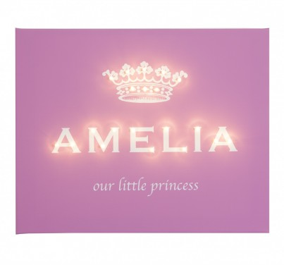 Our Little Princess - Personalised Illuminated Canvas