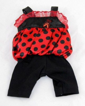 Red / Black Ladybird Outfit (Top & Leggins)
