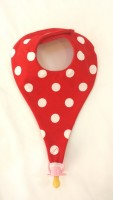 Red dotty Dummy bib