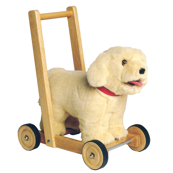 Traditional Wooden Toys Baby Walker Labrador