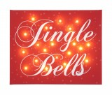 Jingle Bells - Illuminated Canvas Night Light