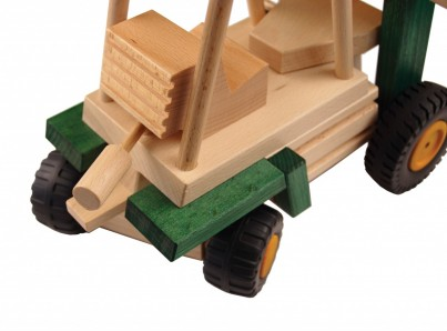 Uniwood Fork Lift Truck wooden toys with moving parts U14006