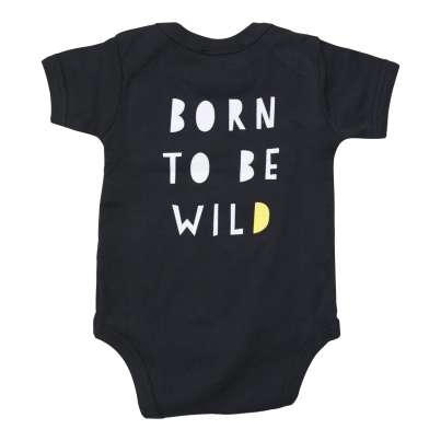 Born to be wild organic baby bodysuit