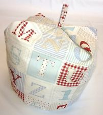 """Child's """"bean bag syle"""" cushion in BLUE Alphabet & Numbers - not on the High Street - ideal gift for toddler"""