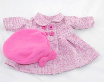 Pink Winter Coat and Hat
