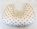 Multi Purpose Nursery & Feeding Cushion - Pinspot Roses PINK for a girl - ideal baby shower gift