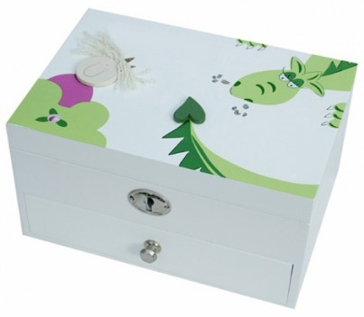 PERSONALISED PRINCESS AND DRAGON JEWELLERY BOX