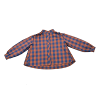 GIRLS BLOUSE IN BLUE CHECK