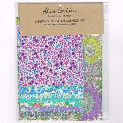 Alice Caroline Liberty of London Patchwork Cushion Kit Blue Violet