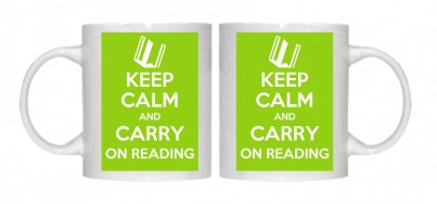 Keep Calm and Carry on Reading Mug Personalised With Your Own Text If Preferred