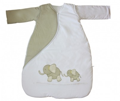 SLEEPSAC 0-3 MONTHS 1 TOG - ELEPHANT NATURAL