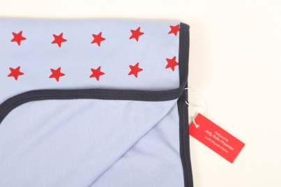 Sleepy Stars Blue Organic Cotton Swaddling Blanket
