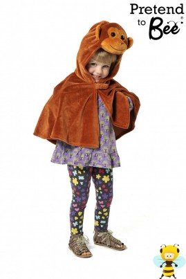 Quick and Easy Dressing Up  More Monkey Business...  Velour cape and character hood with velcro fastening, perfect for your little monkey!
