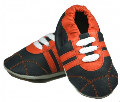Infant Sporty Sneakers - Navy & Orange