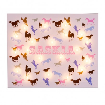 Personalised Horses Illuminated Canvas