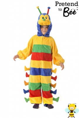 AWARD-WINNING  Polyester chennile zip fronted all-in-one costume.  This FUN costume can excite a child's senses with it's soft touch and bright colours.