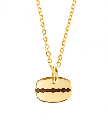 Gold Plated Coffee Bean Necklace (46cm)