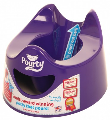 Pouring purple potty