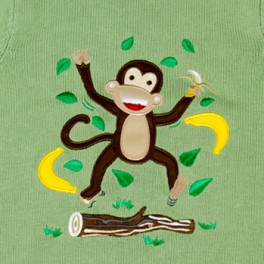"""Cheeky Monkey"" Knitted Kids Jumper"