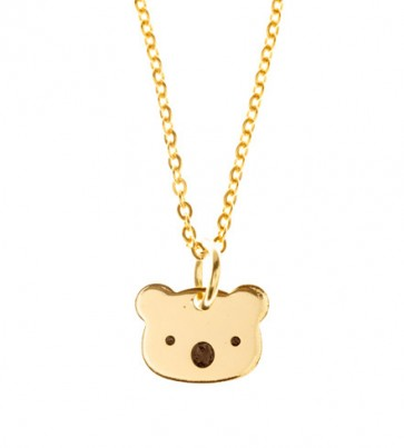 Gold Plated Koala Necklace (80cm)