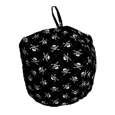 "Child's ""bean bag syle""  in PIRATES design in BLACK - not on the High Street - ideal gift for toddler"