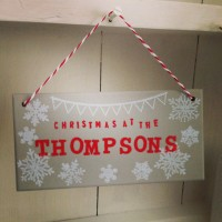 Personalised Christmas Name Plaque