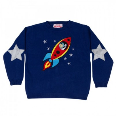 """Space Cadet"" Knitted Kids Jumper"