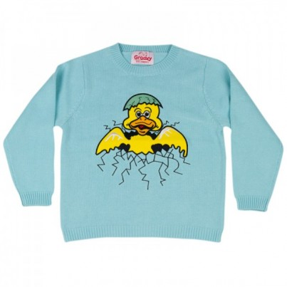 """Darling Duck"" Knitted Kids Jumper"