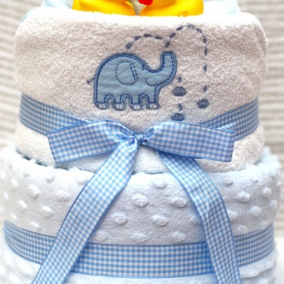 Luxury Bubbles & Cuddles Baby Boy, Girl or Neutral 3 Tier Nappy Cake