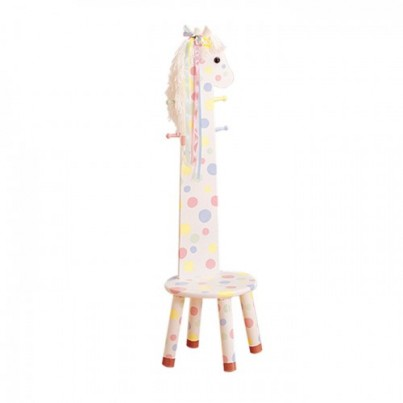 Teamson Pony High Backed Stool with Coat Rack
