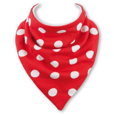 Red Polka Dot dribble bib by Babble Bib
